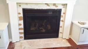Before Refacing Fireplace