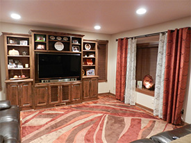 Remodeled Family Room in Eden Prairie
